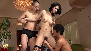 Tough threesome fuck with Maria Ozawa